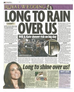 Daily Mirror 26 April 2011