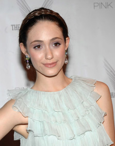 Actress Emmy Rossum had Gina apply  her makeup for a red carpet event.